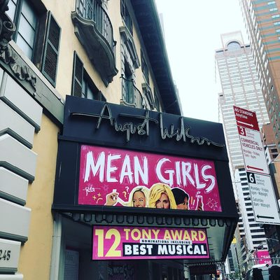 It's TONY day!!! Here at @meangirlsbway that means an early morning dress rehearsal so we are up and at the theater to get dressed!!! #tonyawards2018 #meangirlsbway #mynameiskaren
