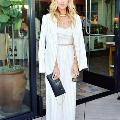 Kicking off summer in my new @shoprachelzoe pinstripe power suit at the most chic @bof supper #bofwest #aboutlastnight✨ #myfashionlife. Shop this suit at link in bio. 💗XoRZ
