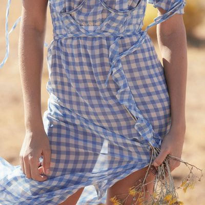 Windswept 🌾 The Dorothy Ruffled Midi Dress & Underwire Corset
