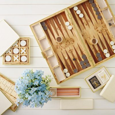 Game night... Which one is your favorite? The #AERIN Shagreen Backgammon, Cards, Tic Tac Toe, Pickup Sticks, Mahjong or Domino Set... Just need someone to play with. #AERINhome #AERINgifts