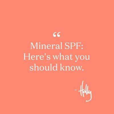 The two types of mineral sunscreen actives are zinc oxide and titanium dioxide. Mineral formulas are great for sensitive skin and some people just prefer them. But when not formulated or used properly they can easily separate and become ineffective (recipe for a sunburn). They can also sometimes be thick, heavy and pasty. To us, mineral SPF needs to be effective and feel good, so you'll actually want to wear it and protect yourself from the sun. Bonus: ours are also easy to work into your routine - a tinted CC cream, a setting powder, a feel-good mist and more. #sun101