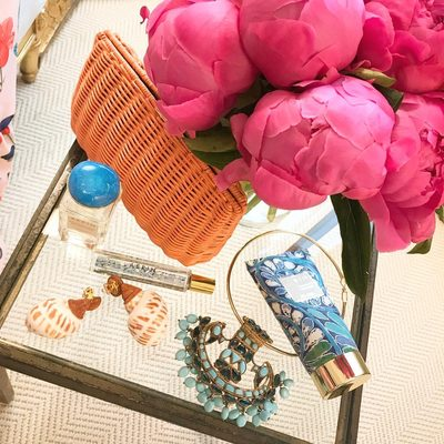 And of course including #AERINbeauty Mediterranean Honeysuckle fragrance for my Positano adventure...