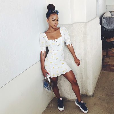 Summer dresses and sneakers 👟 @serayah in our favorite combo of the moment.