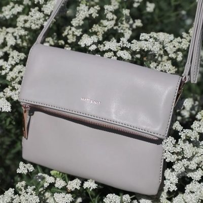SUMMER BLOOMS || Nothing says summer like that perfect crossbody for taking long walks and bike rides. The HILEY in FOG. • • #linkinbio #ss18 #mattandnat #livebeautifully #materialsandnature #vegan #crueltyfree #recycled #handbags #sale #ss18sale