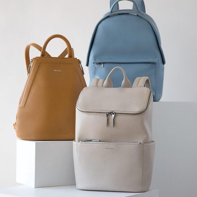 CALL FOR BACKUP || Pick your partner in crime. (And the price is a steal at 25% off) Products shown: CHANDA in SAND, MUNICH in SKY, and BRAVE in KOALA. • • #linkinbio #ss18 #mattandnat #livebeautifully #materialsandnature #vegan #crueltyfree #recycled #backpacks #sale #ss18sale