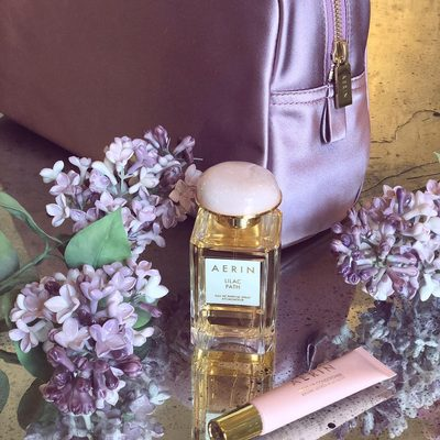 Touch of pink and lilac... Our rose pouch, perfect to use when traveling, now on sale on #AERIN.com. Find our selection of sale products via link in bio.