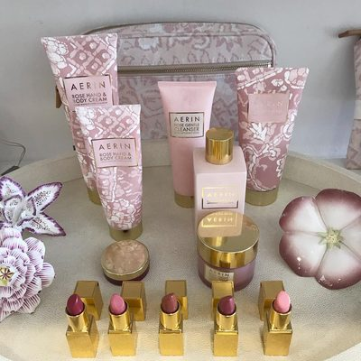 In honor of #NationalLipstickDay love our Rose Lipsticks in pretty tones of pink...#AERINbeauty