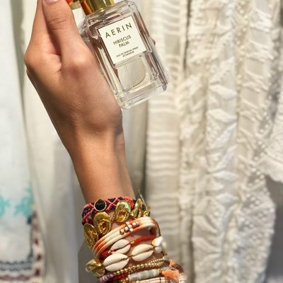 More is more...Love being surrounded by young talent. Amazing photo from stylish Italian girl in my office who is wearing every bracelet from our store..love your style @georginazm #AERINBeauty #AERINstores