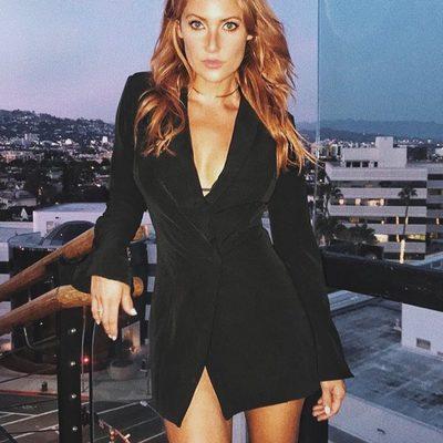 ⚡️ @missgiamarie in the Como la Flor suit dress. #itsnbd