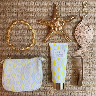 Shop the Ikat Beauty Bag now on sale on #AERIN.com. Summer isn't over yet...