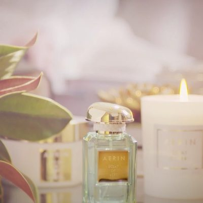 There's a powerful connection between memory and scent. Éclat de Vert is inspired by one of my earliest memories of visiting my grandmother Estée in the South of France. Discover more via the link in bio. #AERINbeauty