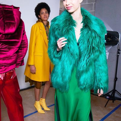 GO GREEN 💚✅ #NYFW #FALL18 #MILLYchromatic
