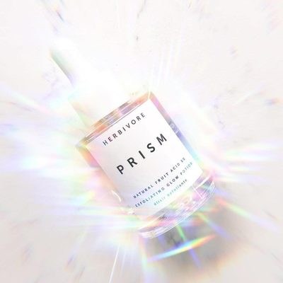 In a hurry? Exfoliate, brighten and hydrate skin in one step with Prism Potion. Here for you whenever you need to glow. ✨🤩✨photo @garrettmunce #prismpotion