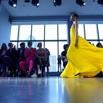 MILLY METAMORPHOSIS⚡️ Thank you @caseykelbaugh @nytimes @tmagazine for capturing these beautiful images from my show!  xoxo @michelleunzipped 💛 #NYFW #millymoment #millymetamorphosis #millyspring19 #tresnyfw #pritinyc