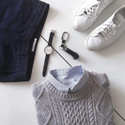 Essentials for your weekend wardrobe. #lesdeux #knitwear #stripeshirt @from9to12