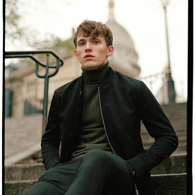 Embracing the best from the worlds of street and preppy - as intentioned from the very beginning. #lesdeux #paris #turtleneck #bomberjacket