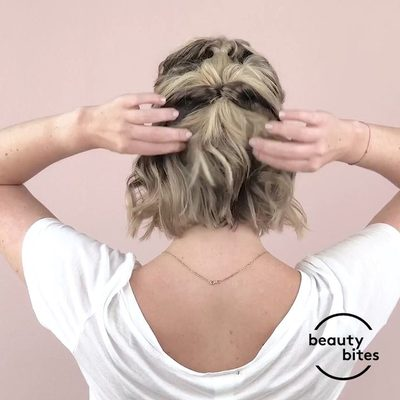 Calling all shorties (short hair, that is). Watch as Birchbox customer Juliette (@jdalfeen) from @lovestoriesTV creates this cute and supereasy half-updo with just a @t3micro Whirl Styling Wand and @love_amika Fluxus Touchable Hairspray. #humpdayhair