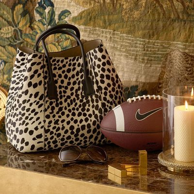 Don't love Sunday night football but love our new Dalmatian Mini Weekender. #AERINaccessories