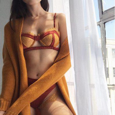 A morning girl ☕️ The Dylan Cardigan, Georgi Underwire Bra & Hi Waist Panty