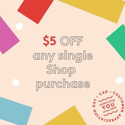 Score special deals like $5 off any single Shop order today, plus free shipping (automatically applies at checkout). Psst...Aces get $10 off. #birchboxcad