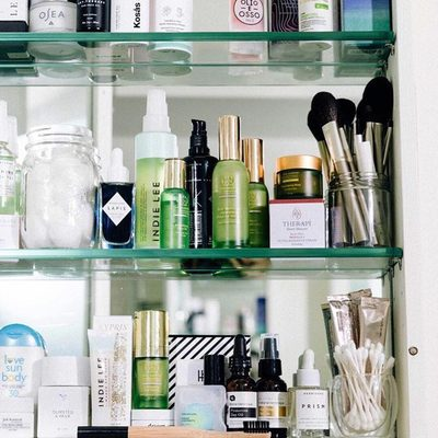 Shelf magic among lots of #cleanbeauty friends ❤️✨by @Credobeauty