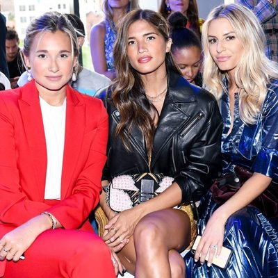 MILLY BABES @weworewhat, @rocky_barnes + @morganstewart slaying our front row at #NYFW ❤️❤️❤️❤️#MILLYmetamorphosis #MILLYmoment