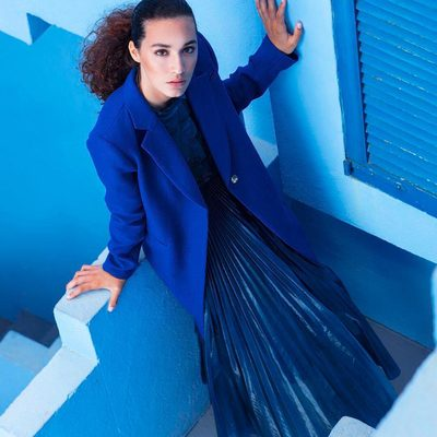 BLUE IS THE COLOR OF TRUST 💙 Shop the blues through link in bio! #MILLYchromatic #fall18 #MILLYmoment #blue