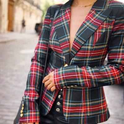 the pattern of the season 🌹@smythejackets duchess blazer + @lacademie_ kane leather pants - link in bio to shop!