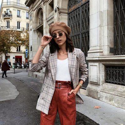 ooh lala 🌹@tesajurjasevic wearing @loversfriendsla blazer @majorelle_collection trousers #revolvearoundtheworld