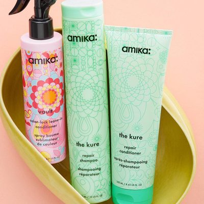 NEW to the Shop! 👉 @love_amika's *Birchbox-exclusive* Vault Color-Lock Leave-In Conditioner detangles, softens, and protects color-treated hair (plus, the packaging is 😍). Spritz from root to tip after showering with The Kure Repair Shampoo and Conditioner for a healing hair routine.