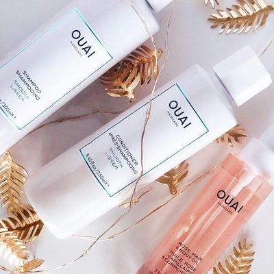 This OUAI to smooth, shiny hair in three easy steps. Treat your hair in the shower with @theouai Smooth Shampoo and Conditioner, then after blow-drying, apply a pump of the Rose Hair & Body Oil from mid-lengths to ends. (Bonus points for slathering it on skin, too!) | Regram: @ilikeivy