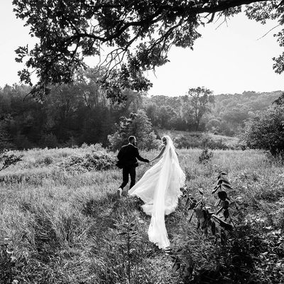 """""""We both were born in the country, and since we live and work in New York City and travel the globe, the one thing we very much love now is getting off the grid,"""" says photographer @Coreytenold about having a wedding on a farm. """"We've both joked about quitting it all and buying a farm, so this was kind of a fantasy location for us, but also one that we are familiar with and is meaningful."""" Tap the link in our bio to go inside Tenold and @walker_ash's wedding. Photo by @elenastantonn"""