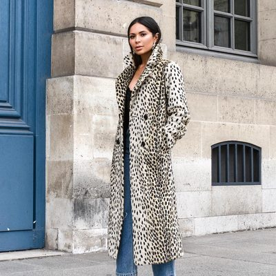 and the crowd goes WILD 🐾 @marianna_hewitt wearing the must-have item for fall - a leopard coat! shop for all your fall essentials using @afterpay.us - 4 equal payments every 2 weeks 0 interest #revolvexafterpay