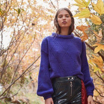 Monday blues 🦋 The Mia Pointelle Sweater.