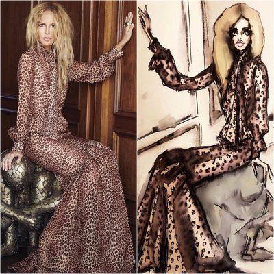 Love to see double of my favorite @shoprachelzoe Verushka dress 📸thanks to artist @csteien 🐆 #liveinleopard XoRZ 🖤Shop dress at link in bio