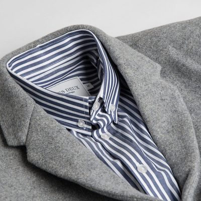 This shirt and coat combo is ideal for a Friday night out during the autumn. Have a lovely weekend. #lesdeux #italianwool #coat