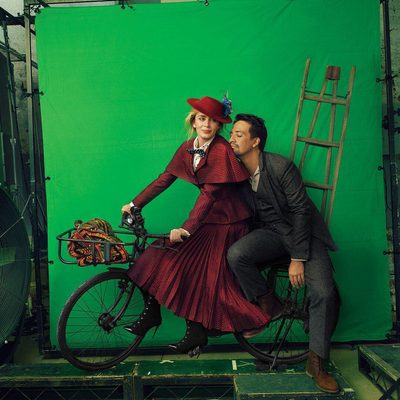 """#LinManuelMiranda began his #MaryPoppins prep by watching the '64 movie for the first time since his boyhood. """"It's so timeless and weirdly resonant,"""" he says. """"I mean, one of the first numbers is 'Sister Suffragette,' a men-are-stupid, voting-rights-for-women song""""—sung by Glynis Johns as Mrs. Banks, the mother of the children to whom Mary Poppins ministers—""""so that's fantastic. And then the visual and musical sequences are as magical as anything you'd see in a movie today."""" #EmilyBlunt took a different tack. Banishing her self-doubt, she made the executive decision not to rewatch the '64 film, which she, too, had last seen in childhood. """"I knew that if I watched Julie Andrews's version, maybe I would take the edge off of what my instincts were telling me to do,"""" Blunt says. """"Also, I didn't want to be completely intimidated by the brilliance of her voice."""" Tap the link in our bio to read the full December cover story. Photographed by #AnnieLeibovitz, styled by @tabithasimmons; menswear editor @michael_philou"""