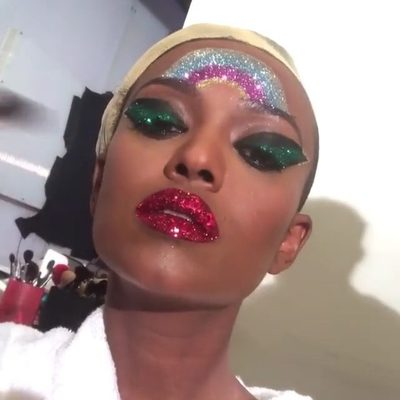 On the brink of holiday party season, consider @kelelam and @patmcgrathreal's dazzling meeting of the minds a call to action to pick up a decade's worth of holographic pigment pots this season—or, at the very least, punch up a classic red lip with a wash of twinkling tinsel-catching ruby glitter. Either way, make sure you shine. Tap the link in our bio for more details. #regram @kelelam