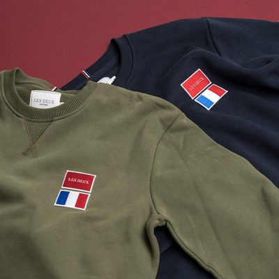 """NEW IN // The """"National Sweatshirt"""" stands out the crowd with the double patch embriodery on the chest. #lesdeux #sweatshirt"""
