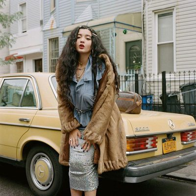 @dounia has an Old Hollywood–in-the-age-of-Instagram look that's fit for the former Instagram girl, now singer, whose recent success includes a collaboration with @Kehlani, a major nationwide tour with headliner @christineandthequeens, and her second EP, Avante Garden Vol. 1, that was just announced to drop on November 30. It fits her personality, too: direct and spotlight-ready. Tap the link in our bio to get to know her. Photographed by @mirandabarnes